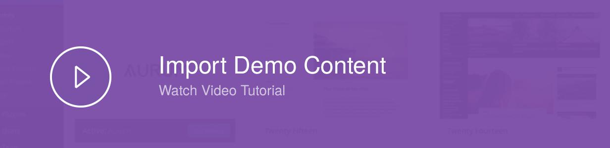 Demo Content Importer