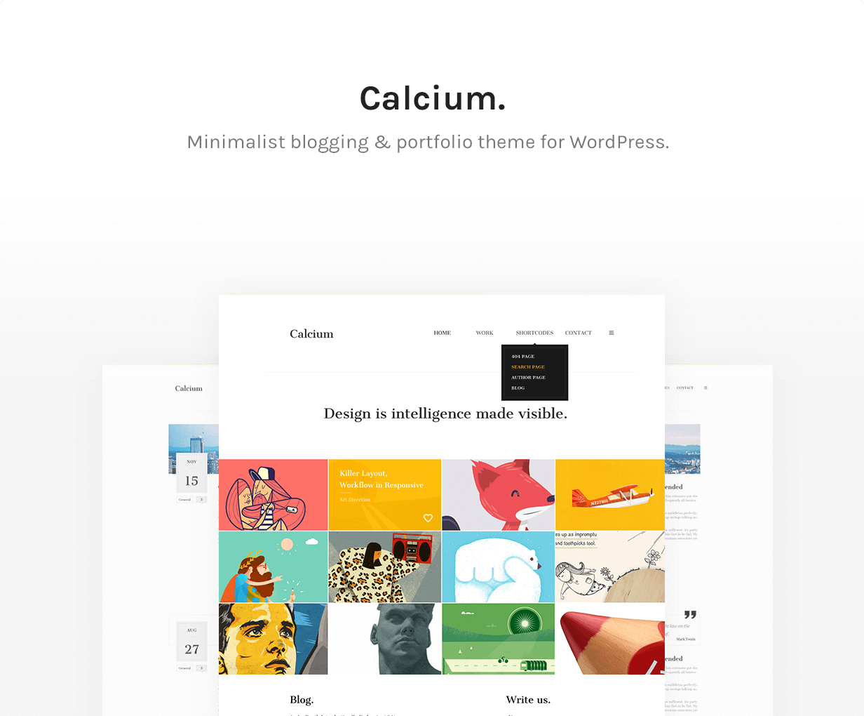 Calcium - Minimalist Portfolio & Blogging Theme - 7