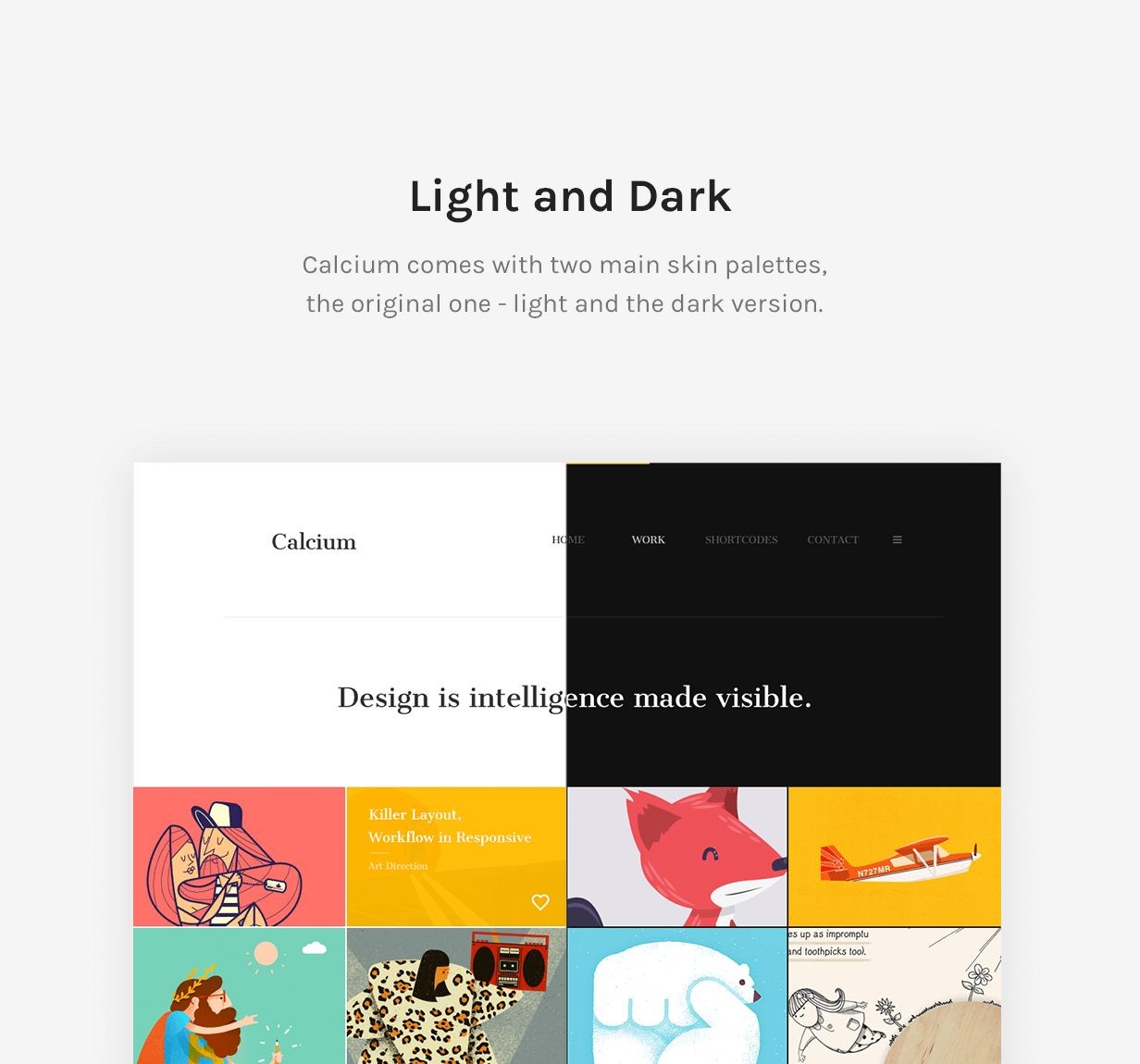 Calcium - Minimalist Portfolio & Blogging Theme - 10