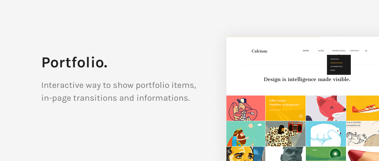 Calcium - Minimalist Portfolio & Blogging Theme - 11