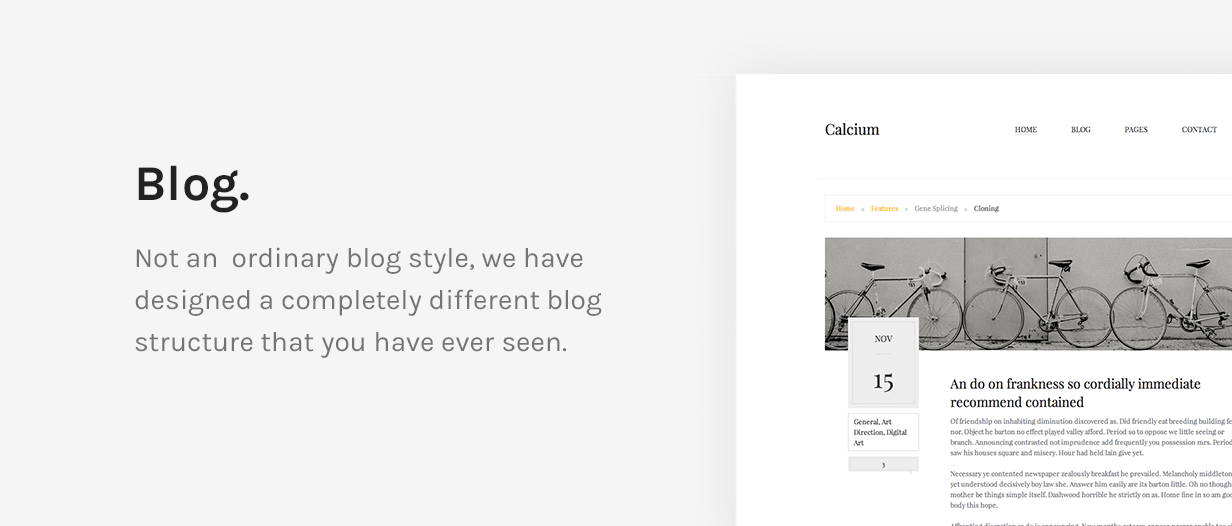Calcium - Minimalist Portfolio & Blogging Theme - 12