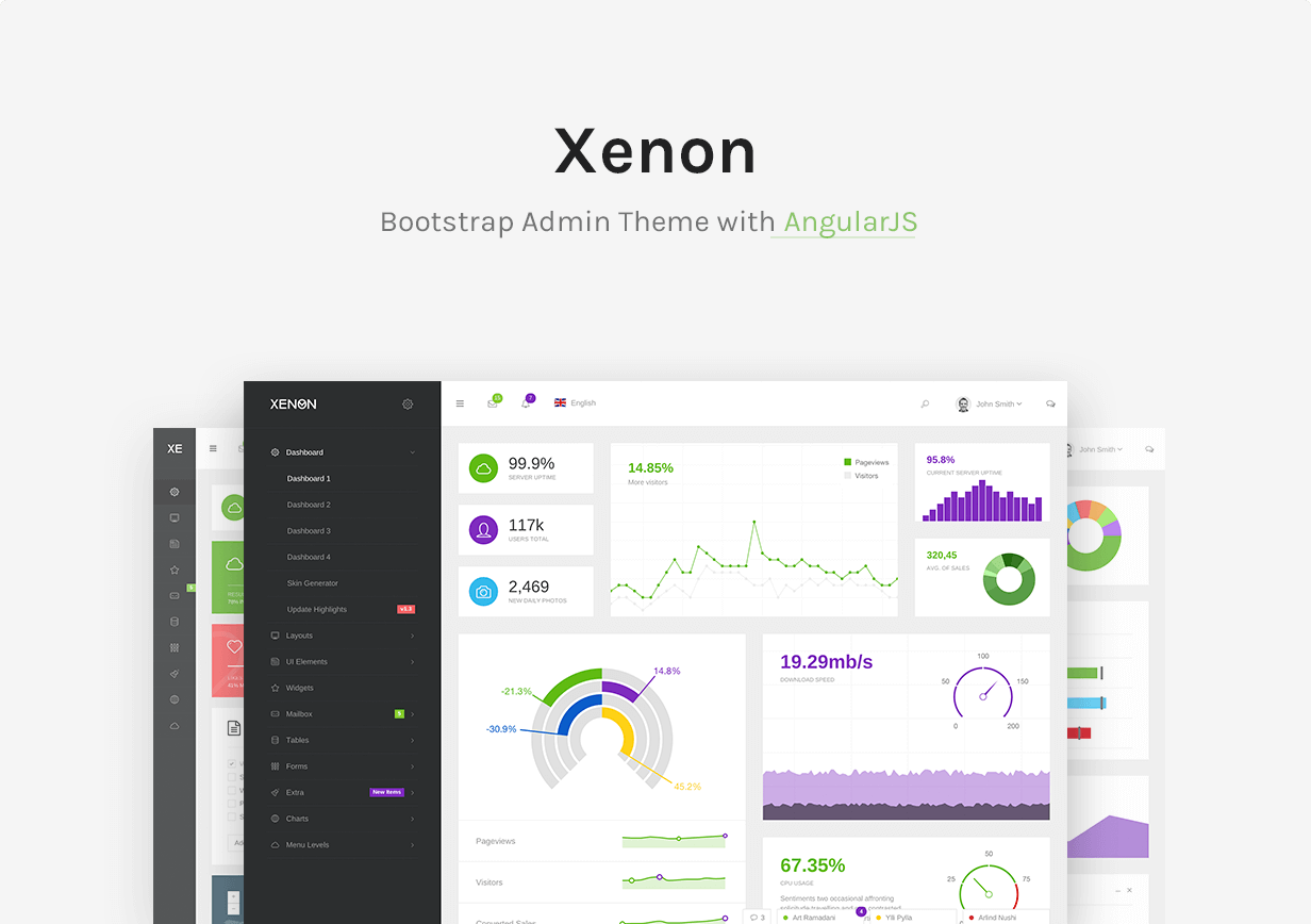 Xenon - Bootstrap Admin Theme with AngularJS - 6