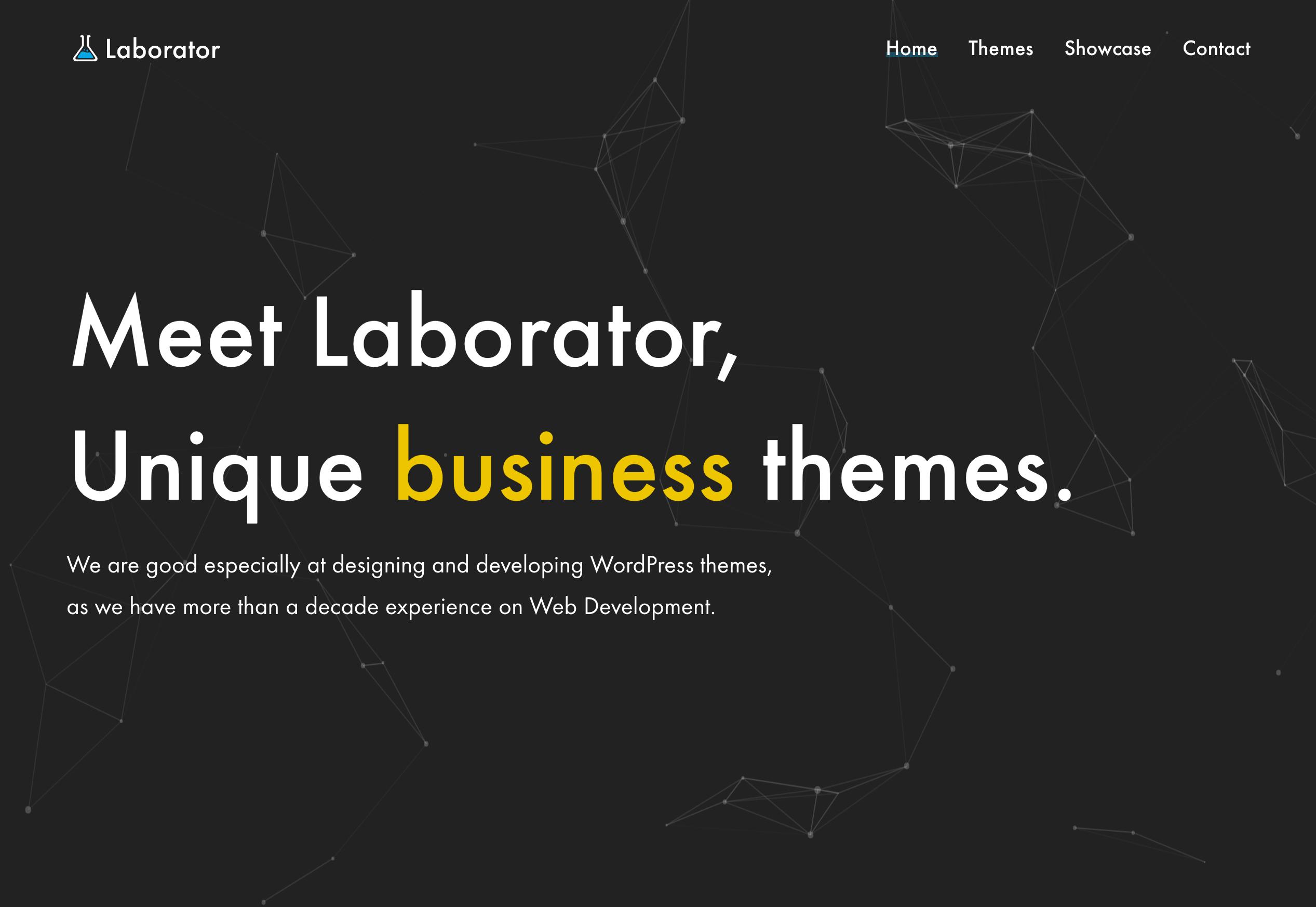 home premium wordpress themes that make sense laborator