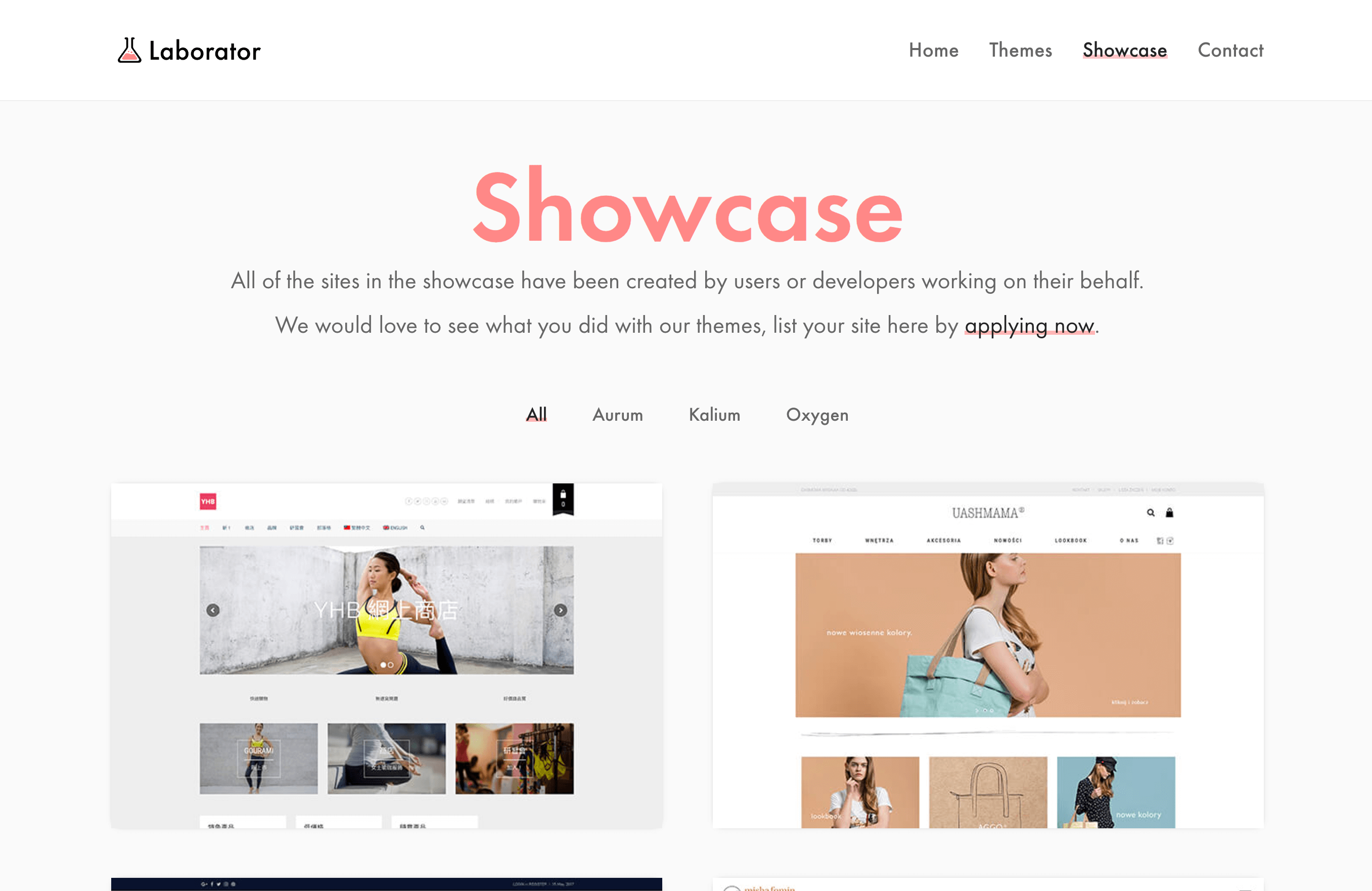 Showcase – Beautiful sites built with our themes — Laborator