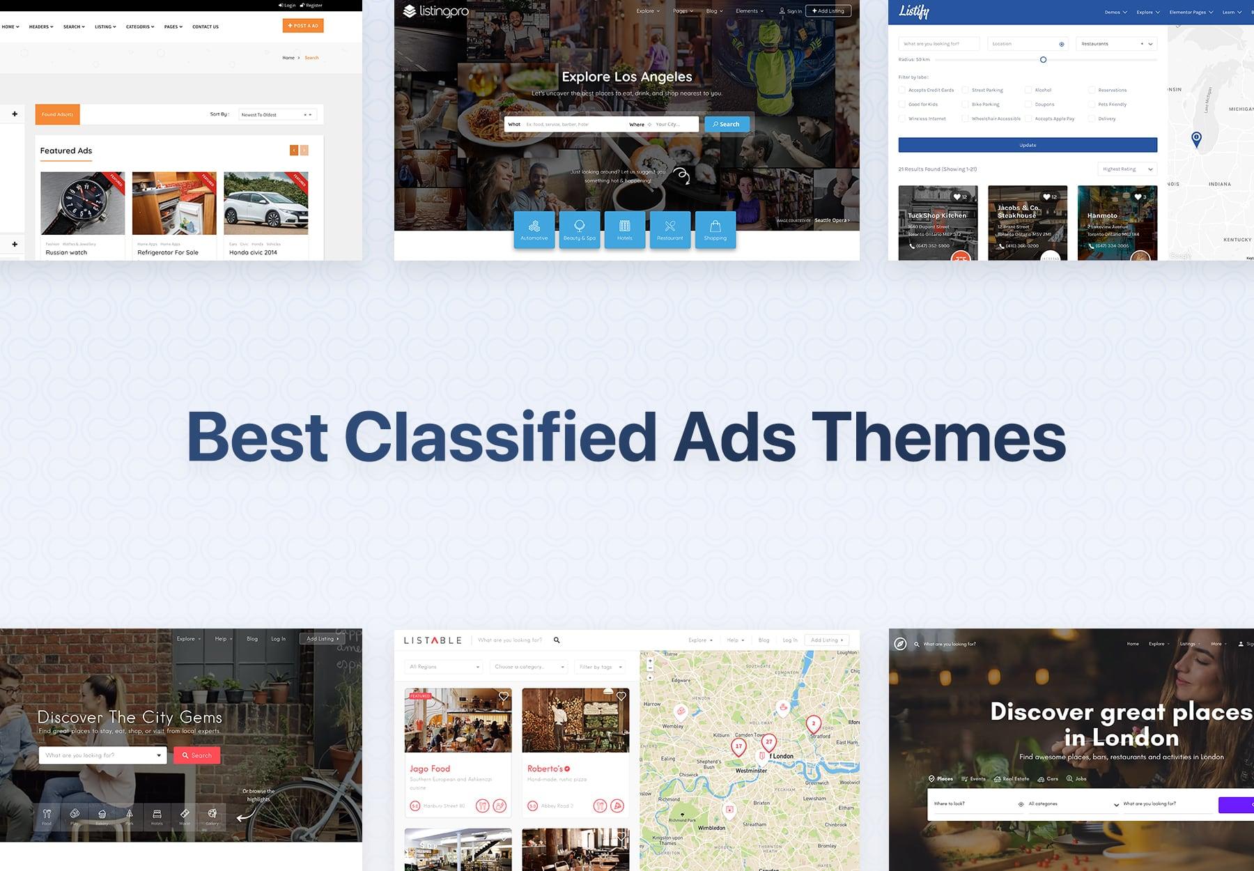 Best Classified Ads WordPress Themes